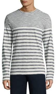Orlebar Brown Long-Sleeve Stripe Cotton Tee