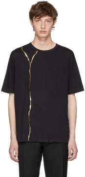 Haider Ackermann Black Perfusion Foil T-Shirt