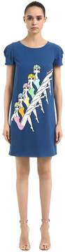 Moschino Printed Cady Dress