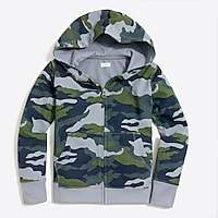 J.Crew Factory Boys' camo full-zip hoodie