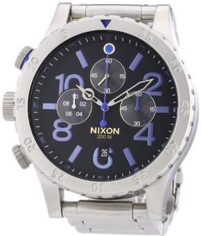 Nixon 48-20 Chronograph Black Dial Stainless Steel Quartz Mens Watch A486-1529