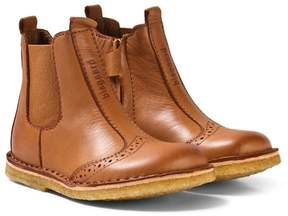 Bisgaard Boots Leather Lining Cognac