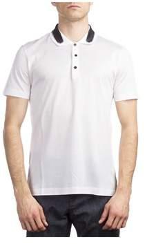 Balenciaga Men's Cotton Short Sleeve Polo Shirt White.
