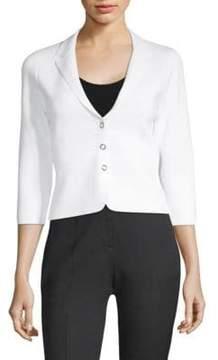 Elie Tahari Sabra Button-Front Sweater