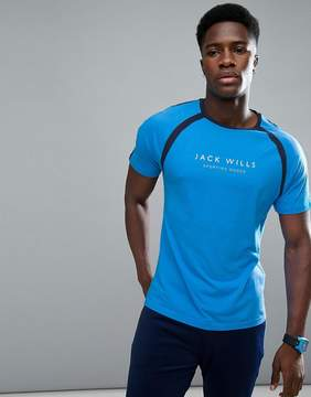 Jack Wills Sporting Goods Benstead Raglan T-Shirt In Navy