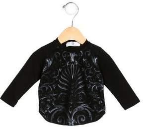 Versace Girls' Printed Long Sleeve Top
