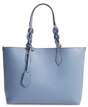 Burberry Medium Reversible Haymarket Check & Leather Tote - Blue - BLUE - STYLE