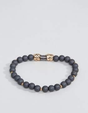 ICON BRAND Matte Beaded Bracelet In Gray