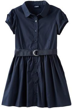 Chaps Girls 4-16 Poplin Belted Shirtdress