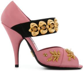 Prada embroidered sandals