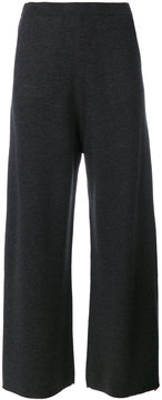 Allude cropped wide leg trousers