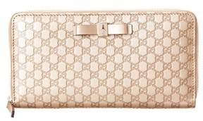 Gucci Bow Signature Leather Zip Around Wallet. - MULTI - STYLE