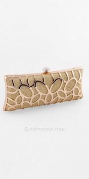 Camille La Vie Metal Cage Over Glitter Box Handbag