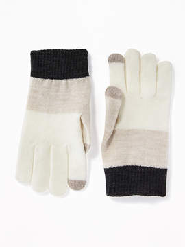 Old Navy Printed Text-Friendly Sweater Gloves for Women