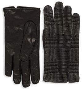 Valentino Leather & Cashmere Gloves