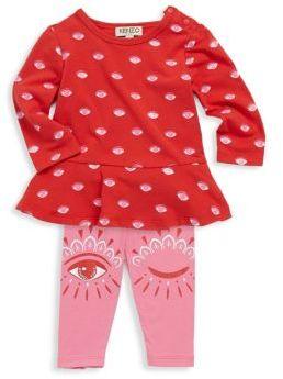 Kenzo Baby's Two-Piece Eye Printed Top & Leggings Set