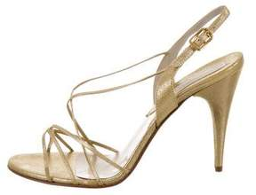 Michael Kors Nikita Metallic sandals