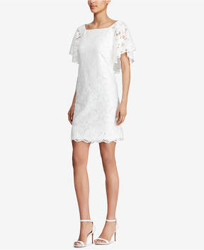 American Living Lace Flutter-Sleeve Dress
