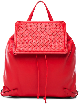 Bottega Veneta Woven Leather Backpack