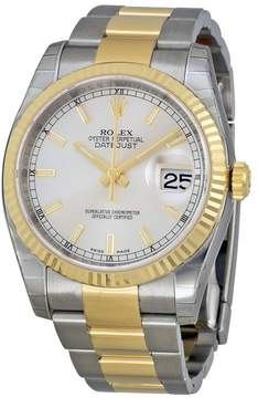 Rolex Oyster Perpetual Datejust 36 Silver Dial Stainless Steel and 18K Yellow Gold Bracelet Automatic Men's Watch