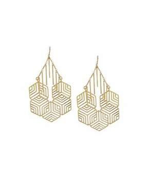 Devon Leigh Geometric Statement Earrings