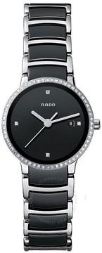 Rado Centrix Quartz Black Dial Steel and Ceramic Ladies Watch