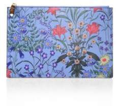 Gucci Flora-Print Leather Pouch - AZURE - STYLE