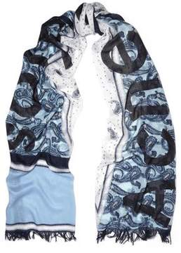 Acne Studios Paisley-Print Modal And Silk-Blend Gauze Scarf