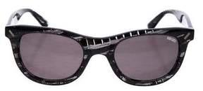 Kenzo Patterned Wayfarer Sunglasses