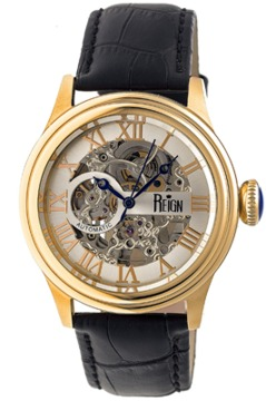 Reign Kennedy Leather-band Automatic Watch.