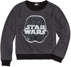 Star Wars STARWARS Star WarsReverse Sequin Sweatshirt - Big Kid Girls