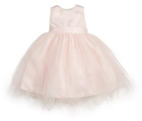 Us Angels Infant Girl's Tulle Overlay Sleeveless Dress