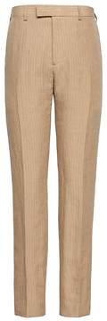 Banana Republic Heritage Tapered Pinstripe Italian Linen Suit Pant