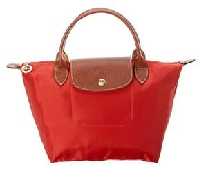 Longchamp Le Pliage Small Nylon Top Handle Tote. - ORANGE - STYLE