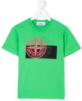 Stone Island Junior shadow logo print T-shirt