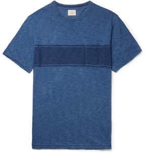 Faherty Slim-Fit Striped Slub Cotton-Jersey T-Shirt