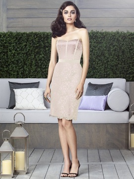 Dessy Collection - 2911IV Dress in Blush