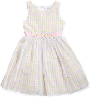 Sweet Heart Rose Multi-Color Checked Dress, Little Girls