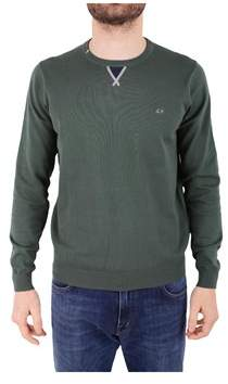 Sun 68 Men's Green Cotton Sweater.