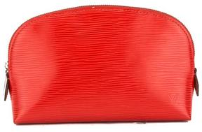 Coquelicot Epi Leather Cosmetic Pouch