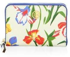 Tory Burch Robinson Leather Floral Coin Purse - MULTI - STYLE