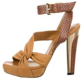 Barbara Bui Snakeskin Multistrap Sandals