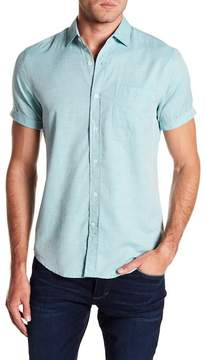 Report Collection Textured Short Sleeve Slim Fit Shirt