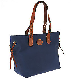 As Is Dooney & Bourke Nylon Shopper with Braided Handles