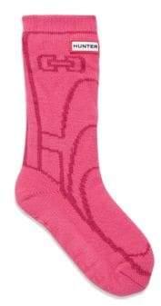 Hunter Girl's Graphic Boot Slipper Socks