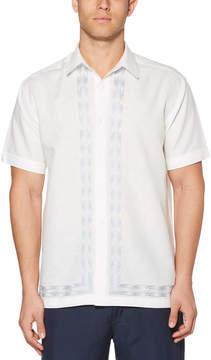 Cubavera Big & Tall L-Shape Raindrop Embroidered Shirt