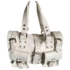Mulberry Roxanne White Leather Handbag