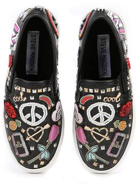 Steve Madden Girls' J-Craze Multi Applique Detail Sneakers
