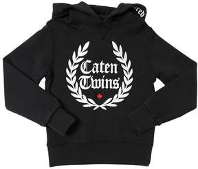 DSQUARED2 Caten Twins Hooded Cotton Sweatshirt