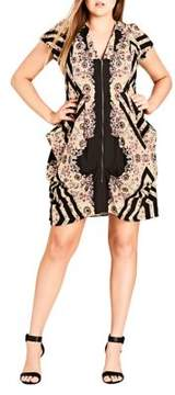 City Chic Plus Floral Dream Tunic Dress